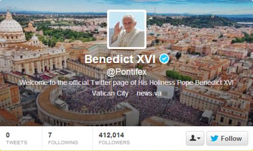Benedict XVI  Pontifex  on Twitter